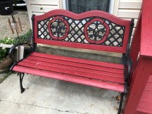 Red bench-LilyDale
